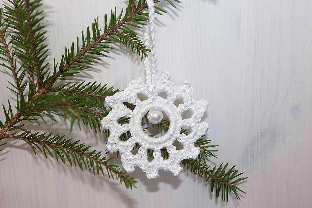 Heeldatud jõuluehe lumehelbeke