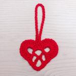 punane heegeldatud süda